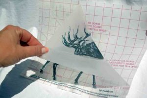 Elk Image on Stencil Film for Engraving
