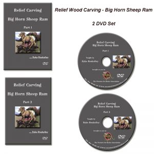 Big Horn Sheep Relief Carving DVD